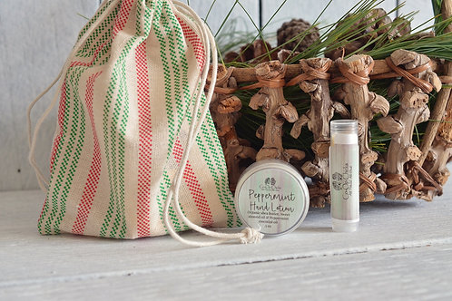 Peppermint Gift Set in Drawstring Bag