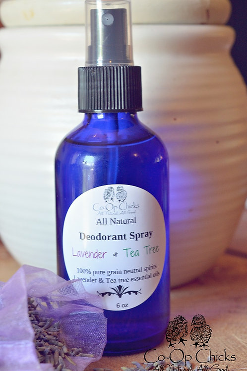 Lavender & Tea Tree Spray on Deodorant