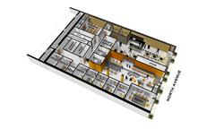 3821 INCUBATOR CAFE FIRST FLOOR PLAN AXON RENDERING