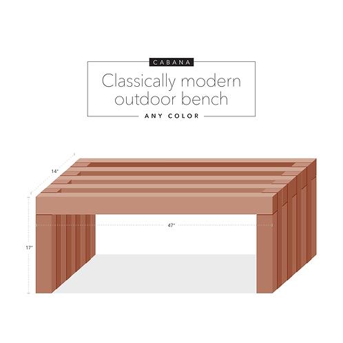 Cabana: Outdoor bench
