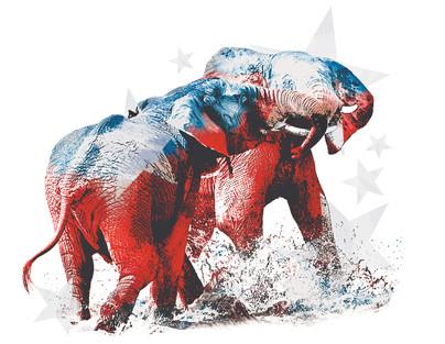 Illustration: GOP battle
