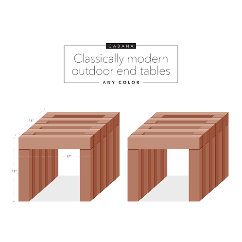 Cabana: Outdoor end tables
