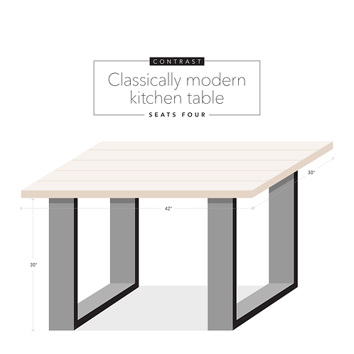 Contrast Kitchen Table