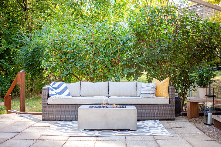 Classically modern outdoor living