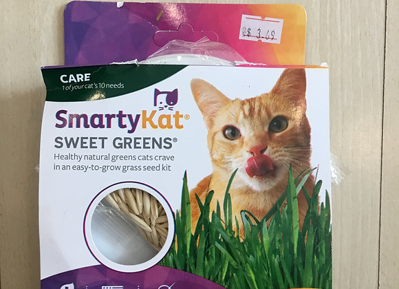 Smarty mat sweet greens - cat grass seed kit, 1oz