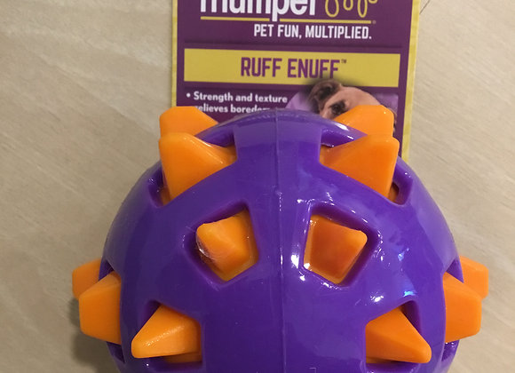 Ball - ruff snuff spiked purple/orange, large
