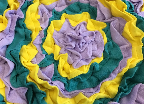 Snuffle mat - green, lavender, yellow