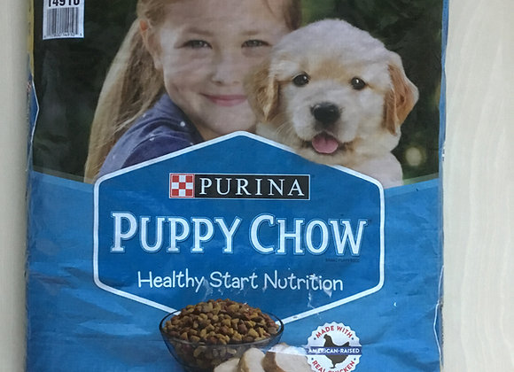 Purina - puppy chow, 16.5lbs