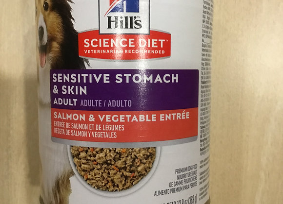 Hill Science Diet - Sensitive stomach & skin, Salmon & veggies, can