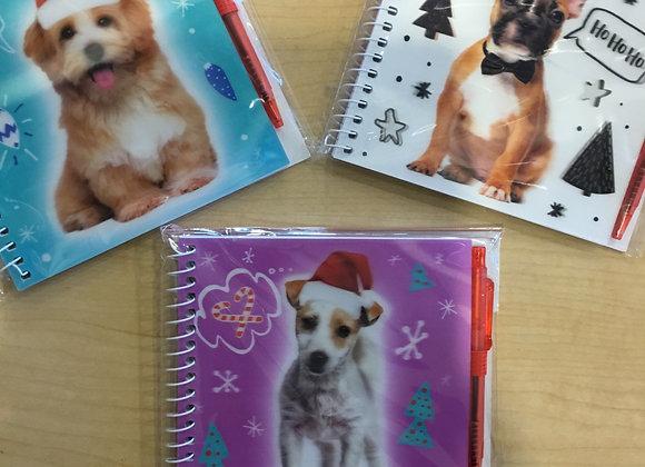 "Holiday Memobook & pen, 4""x4"""