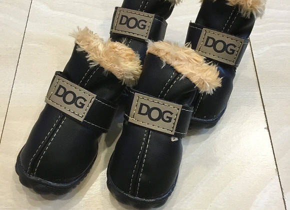 Dog Boots - fur lined with Velcro