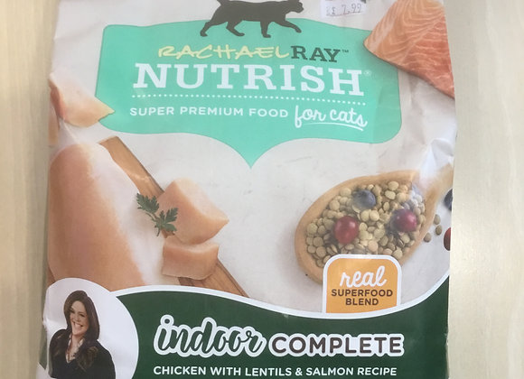 Rachel Ray Nutrish cat food - Indoor Complete, chicken/lentil/salmon, 3lbs