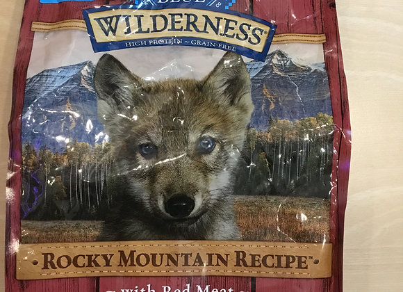 Blue Buffalo Wilderness - Rocky Mountain recipe with red meat, puppy, 4lbs