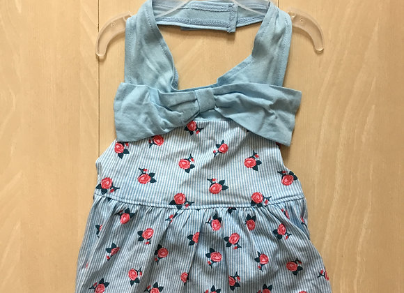 Dress - blue with flowers, large