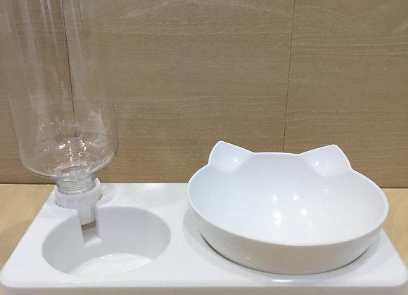 Cat food & water feeder