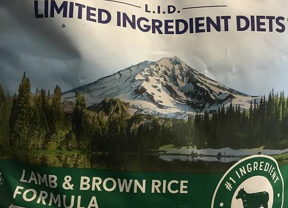 Natural Balance L.I.D. Formula - lamb& brown rice, 12lb