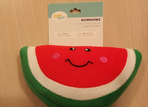 Zippy Paws watermelon squeaky plush toy
