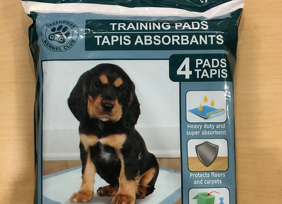 Puppy pads - 4 pack