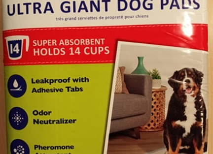 Top Paw - Ultra Giant Dog Pads, 10 count, 27in x 44in