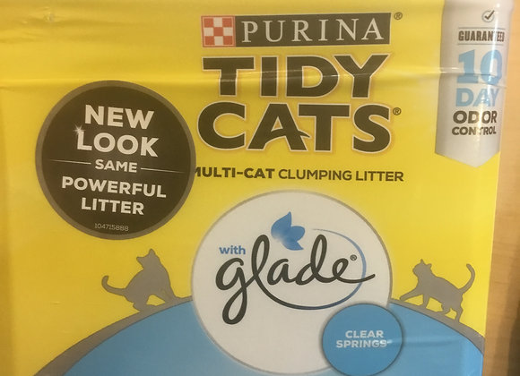 Purina Tidy Cats litter - 20lbs with clear springs glade