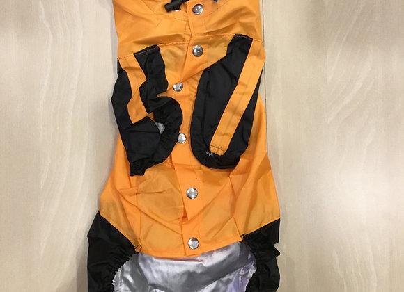 Waterproof Sweatsuit jacket - med/large, orange and black