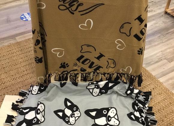PAWS Handmade Double Fleece Blanket, 3.5ft x 4ft