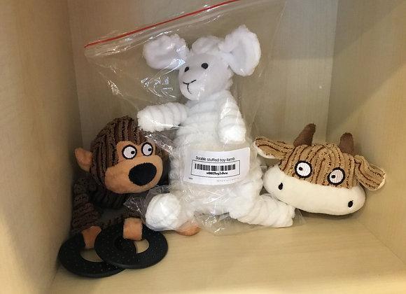 Stuffed monkey/cow/lamb