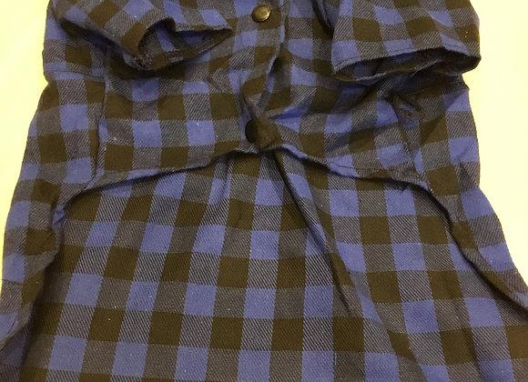 Shirt- blue plaid, med/large/XL
