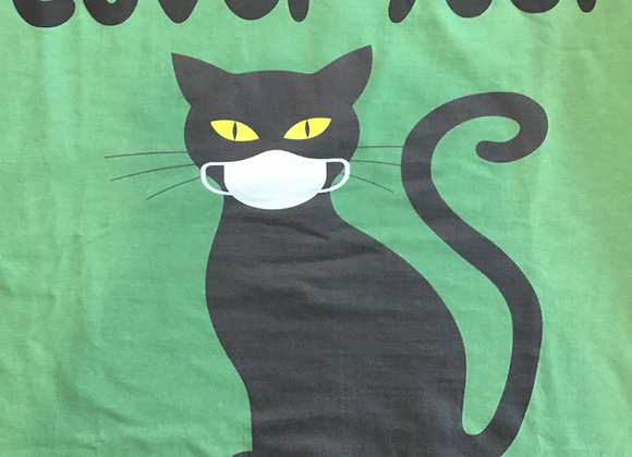 Tshirt - Cover Your Meowth, green, large