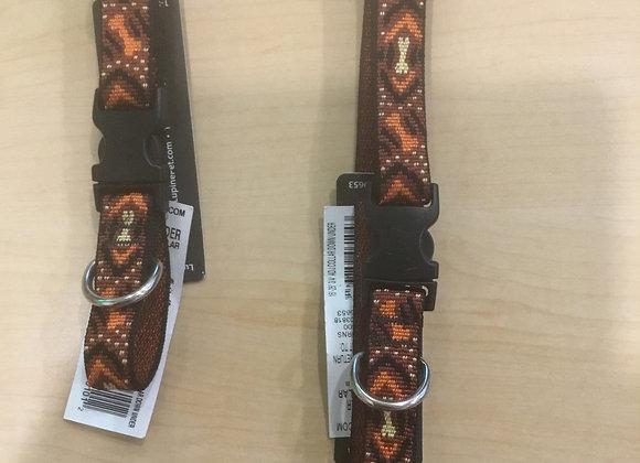 Lupine originals - brown Chevron bone collar/leash (set or sold separately)