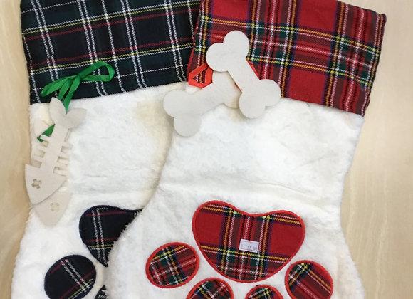 Holiday paw stocking