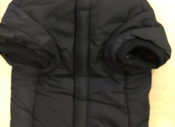 Down jacket hoodie - black, large/med