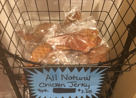 All Natural Chicken Jerky Treats (Nudges) - 4pack
