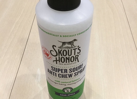 Skout's Honor 8oz anti-chew spray with bitters, sour apple