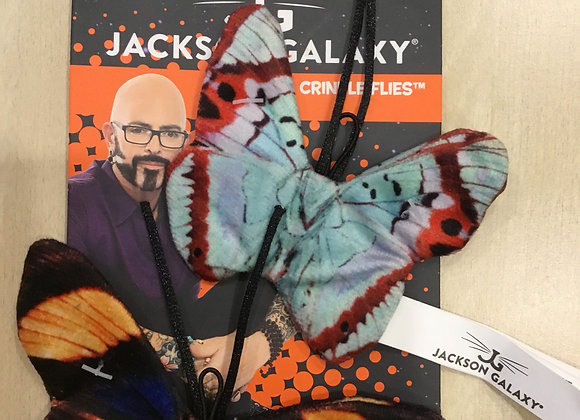 Jackson Galaxy crinkle butterflies - 2 pack