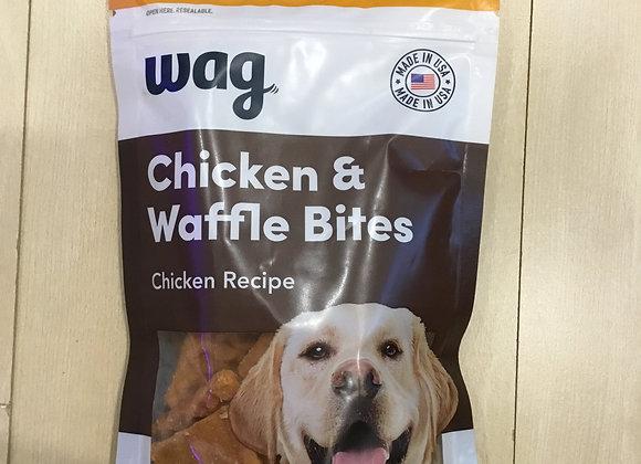 Wag chicken & waffle bites, 6oz