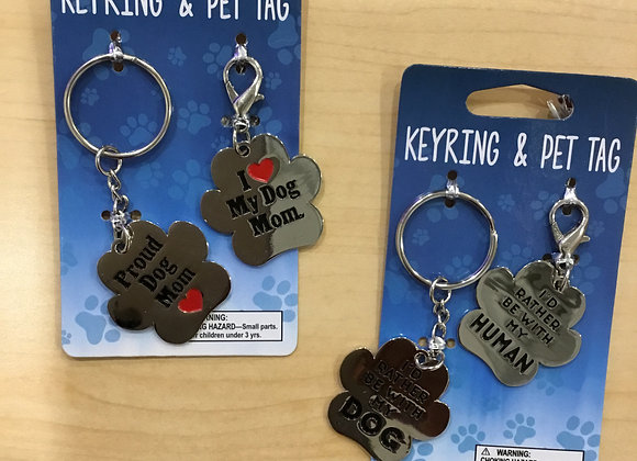 Keychains - dog theme, 2 pack