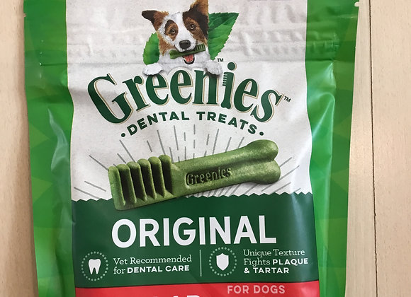 Greenies Dental Treats - Regular, Dogs 25-50lbs, 6 count