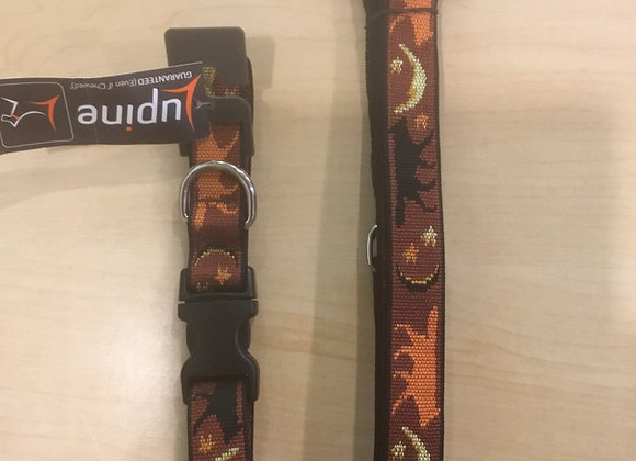 Lupine originals - collar/leash, wolf & moon (set or sold separately)