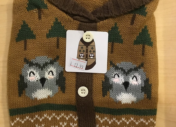 Sweater - Owl, extra small/small