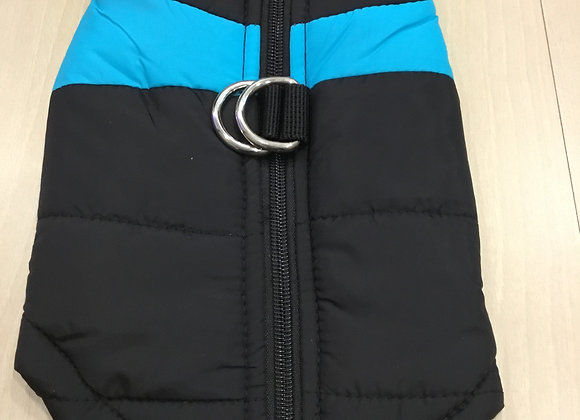 Sleeveless windbreaker jacket - black and blue, extra small/small