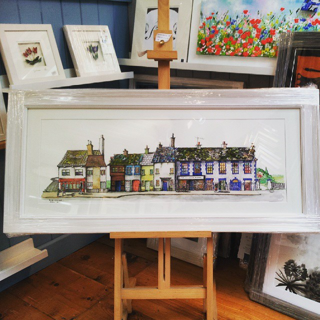 """Glasson Village"" Print by Rob Quinn"