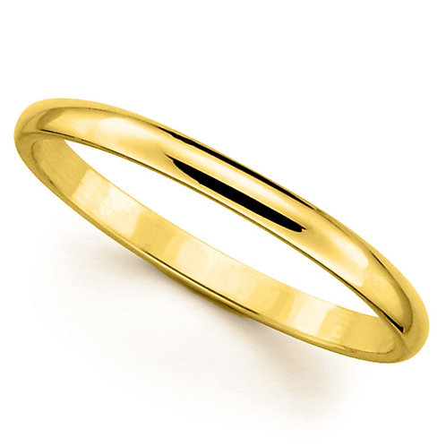 14k Yellow Gold 2-mm Standard-fit Polished Wedding Band