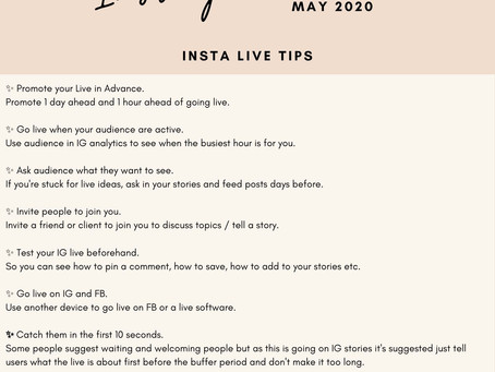 30 Days Instagram Live May Challenge