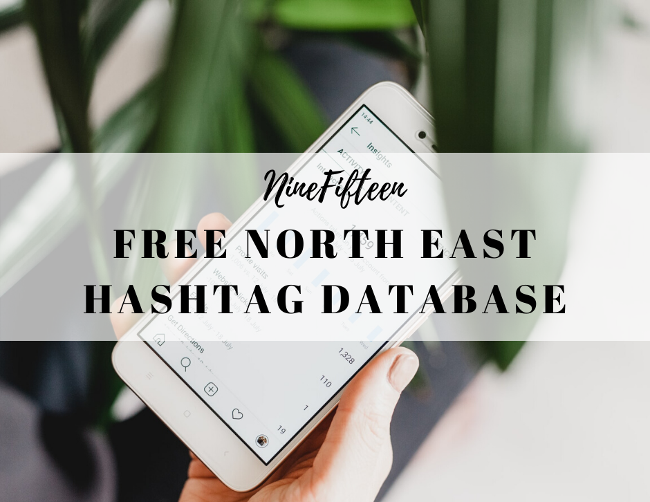 FREE NORTH EAST OF ENGLAND HASHTAG DATABASE COVER IMAGE BY NINEFIFTEEN