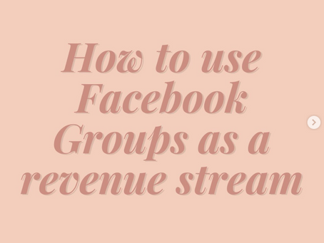 How to Use Your Facebook Group as a Revenue Source