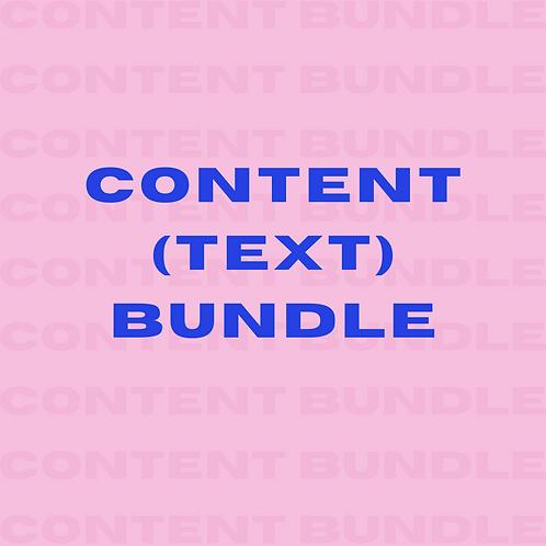 Content Creation Bundle - Text (5)