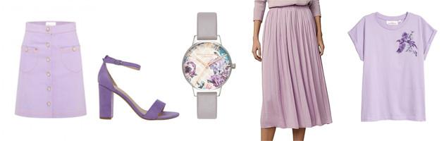 Lilac pastel wardrobe