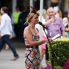 Louise Chambers MC Gold Coast Turf Club Fashions on the Field