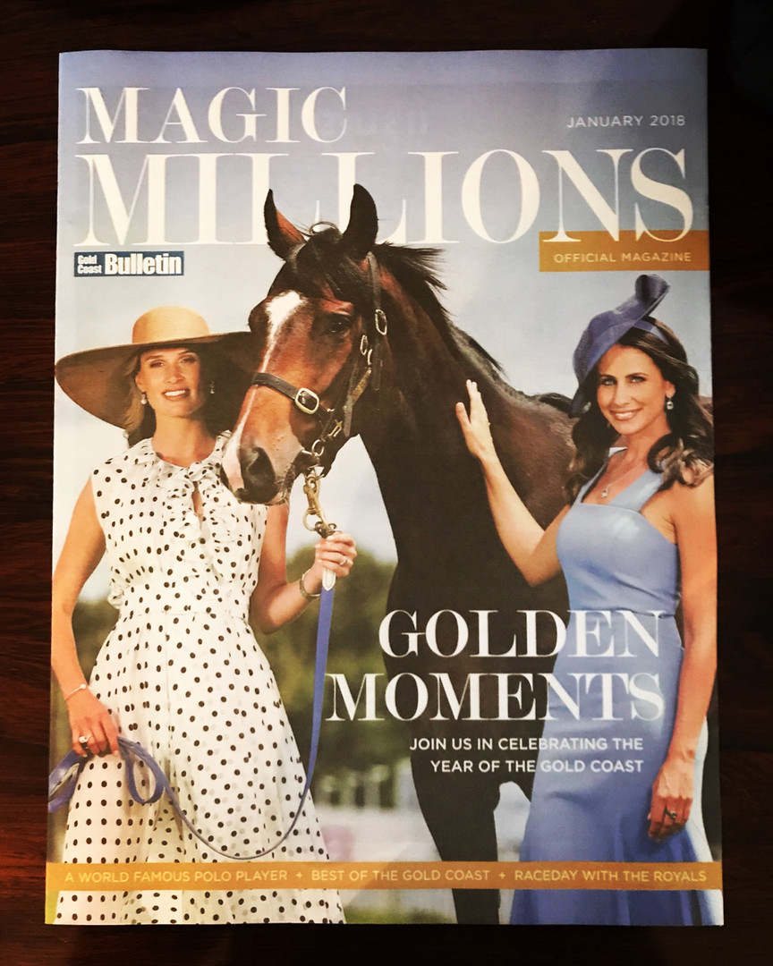 Francesca Cumani Amanda Abate Magic Millions styled by Gold Coast stylist Louise Chambers Balenicaga Harrolds Cue Myer